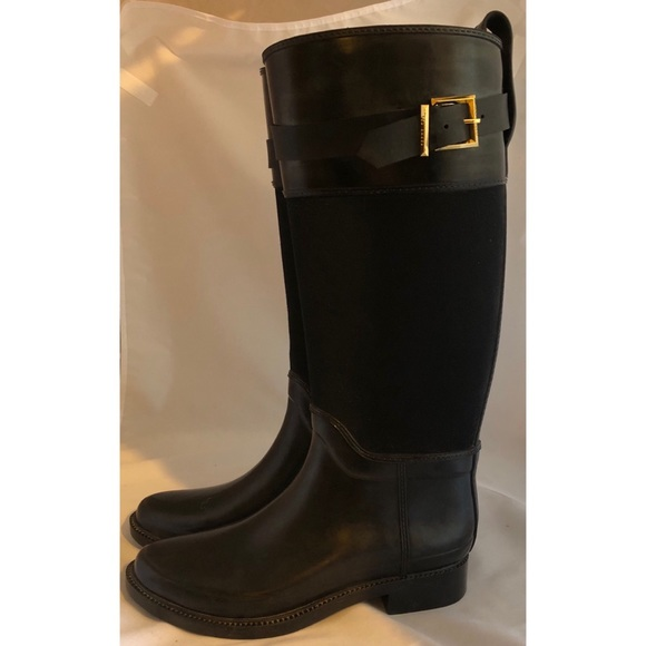 3a2be51488b Ted Baker Shoes - Ted Baker Rain boots Black   Gold size 8 Nordstrom